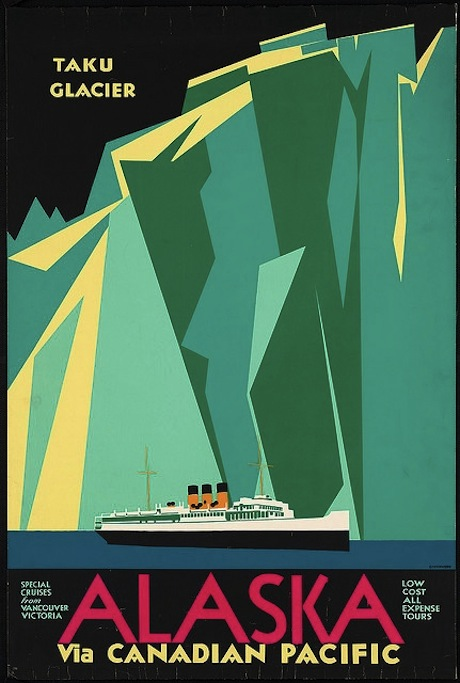 Alsaka via Canadian Pacific - Poster