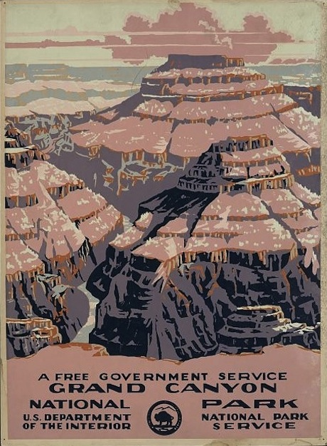 Grand Canyon Vintage Poster - National Park Service