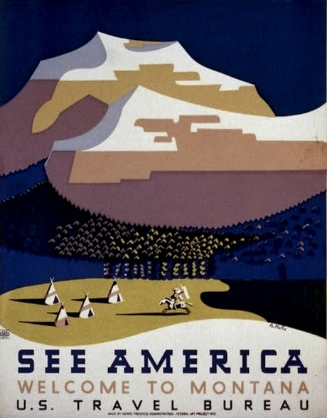 Montana Poster - US Travel Bureau