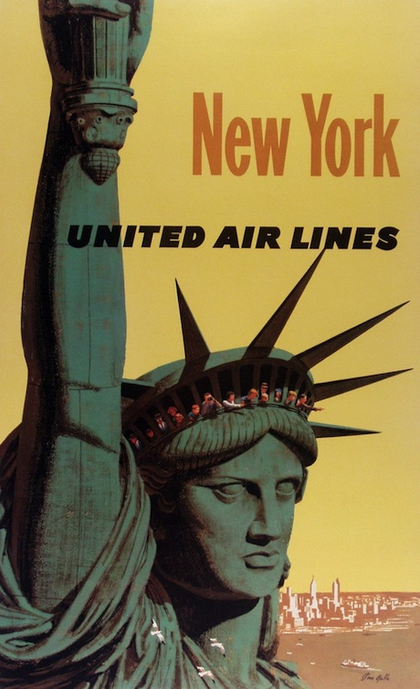 New York United Airlines - Poster