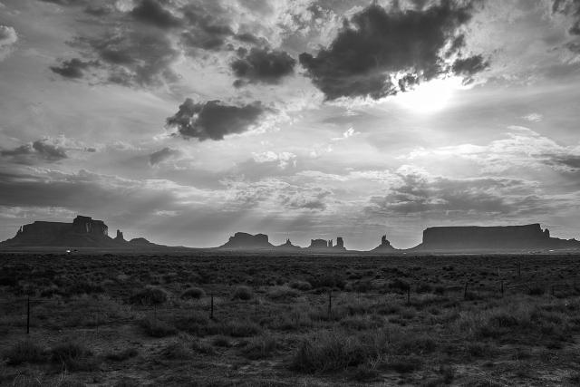 monument valley noir et blanc