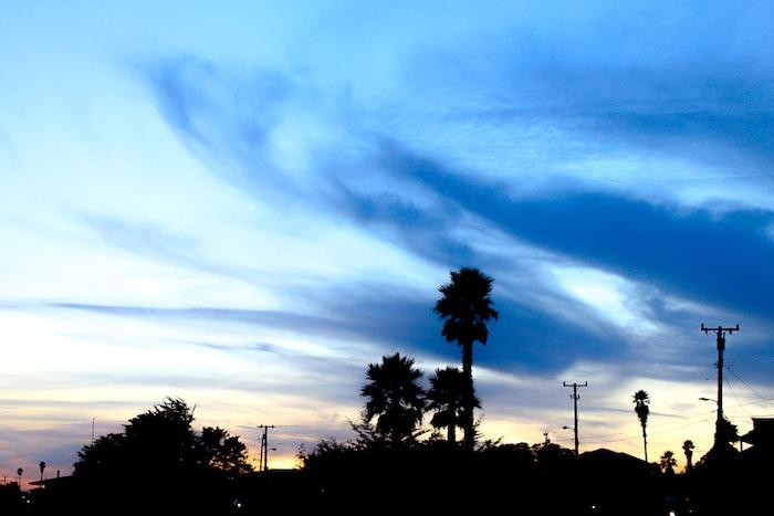 Coucher de soleil à Santa Cruz, USA
