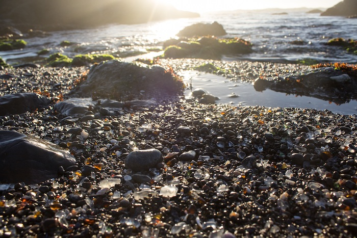 Glass Beach, Fort Bragg, Californie, USA