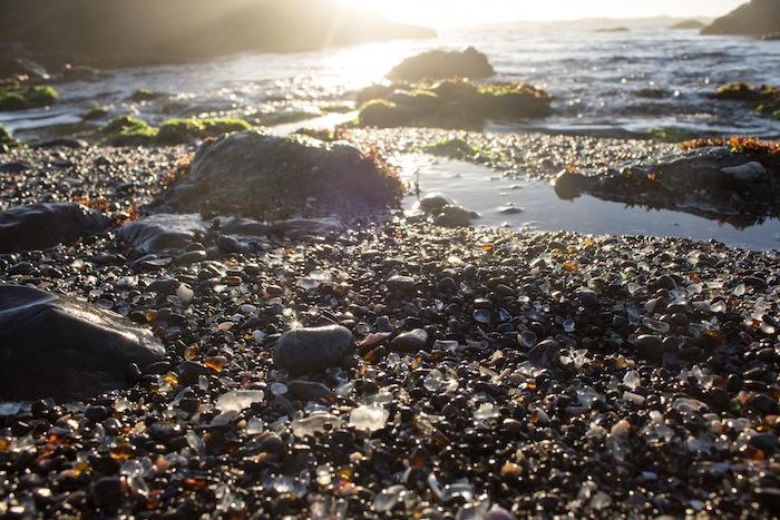 Glass Beach, Fort Bragg, Californie, USA