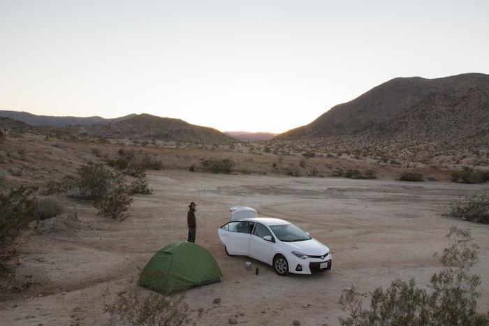 anza borrego yaki pass campground californie usa