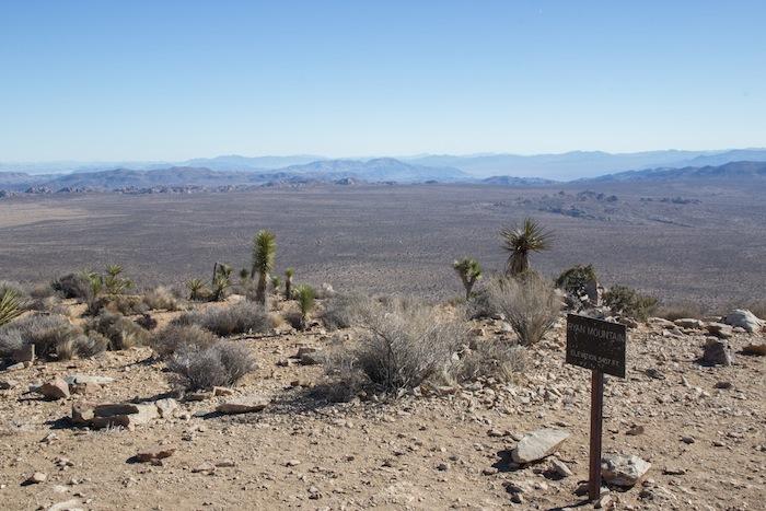 panorama en haut du sentier de Ryan Mountain