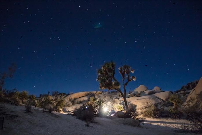 nuit étoilée au parc de Joshua Tree