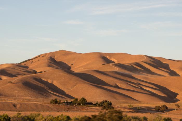 collines sèches en Californie
