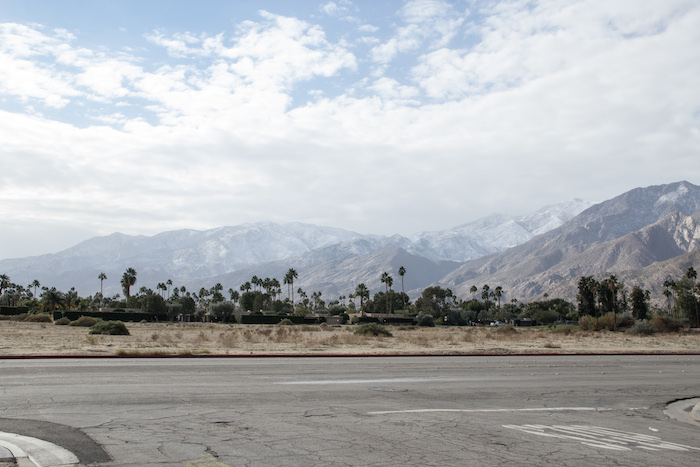 neige à Palm Springs