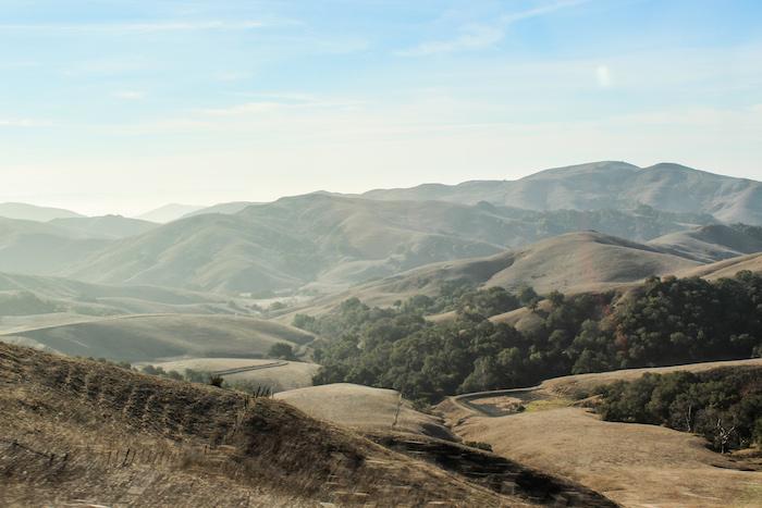 collines vers San Luis Obispo