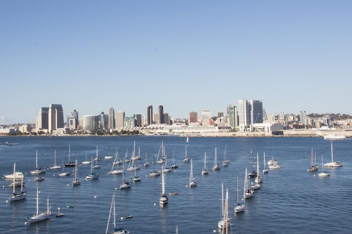 Vue sur la skyline de San Diego