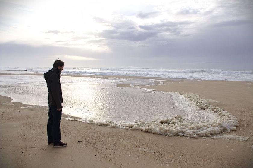 plage en hiver